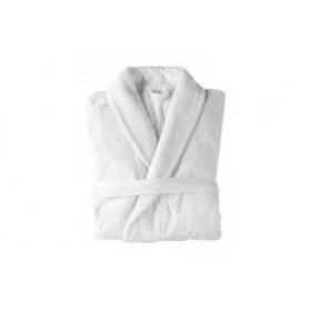 Peignoir Eponge touché velours 100% coton col châle - PROLUX - 420 gr/m²