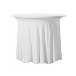 Housse de table de bistro plissé en 17 coloris - BISTRO TABLE WAVE - 180 gr/m²