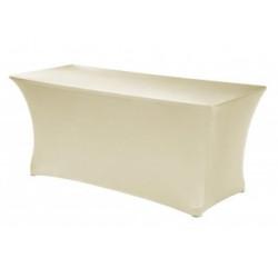 Housse de table rectangulaire   100% polyester pour banquets