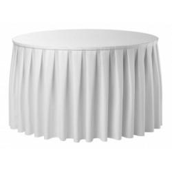 Juponnage COMBI BOXPLEAT 100% polyester 2 qualités pour banquets.