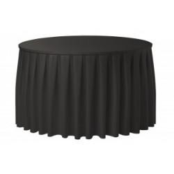 Juponnage plissé rond | 100% polyester | 2 qualités pour banquets.