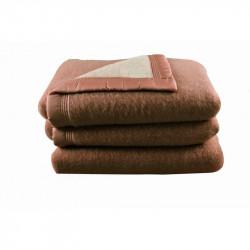 couverture h tellerie en 100 laine woolmark 5 couleurs ton sur ton. Black Bedroom Furniture Sets. Home Design Ideas