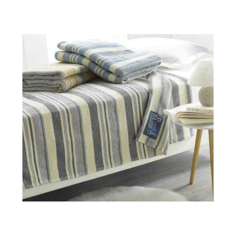 couverture en laine vierge woolmark h tellerie gratt e en face. Black Bedroom Furniture Sets. Home Design Ideas