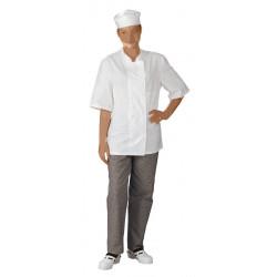 Veste de cuisine mixte manches courtes légère - MICHEL - 180 gr/m²