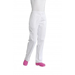 Pantalon cuisine polycoton uni | Noir ou blanc | 2 poches