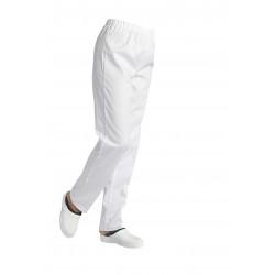 Pantalon mixte taille élastiquée polycoton blanc - ANDRÉ - 195 gr/m²