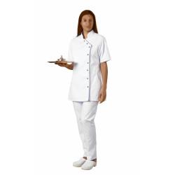 Tunique 2 poches côtés - ODILE - Pressions  - Polycoton 195 g/m²