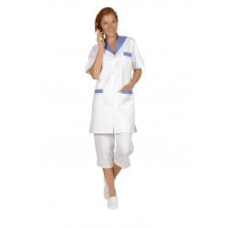 Blouse médicale avec fentes sur les cotés | Polycoton | 3 poches