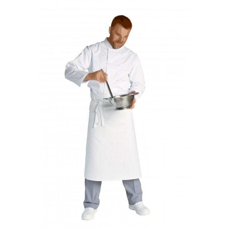 Lot de 5 tabliers pour chef et commis | 100% coton | Noir ou blanc
