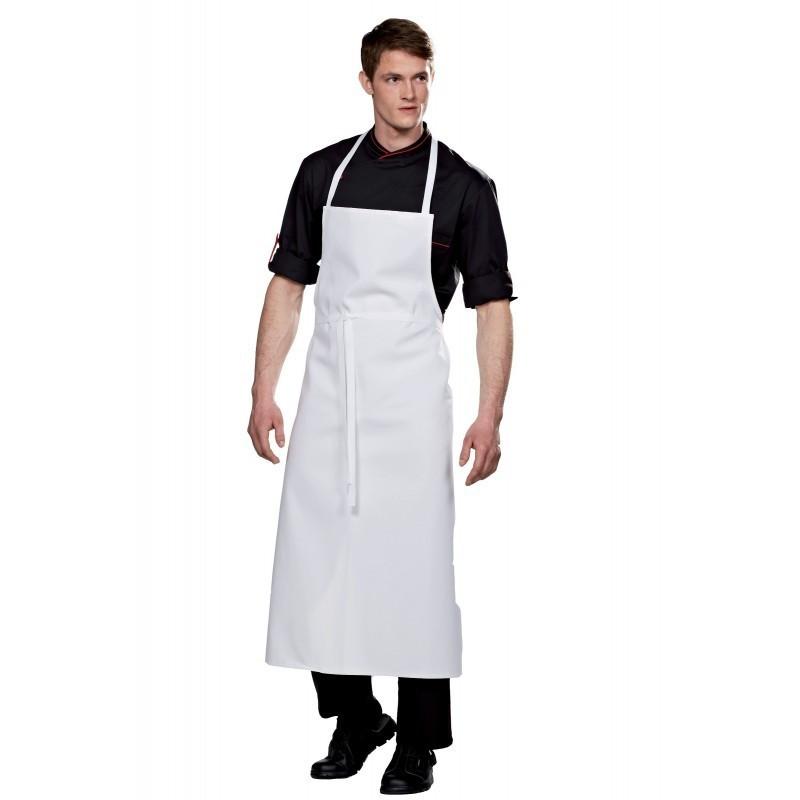 Tablier cuisine valet avec bavette | 1 grande poche | 100 x 100 cm