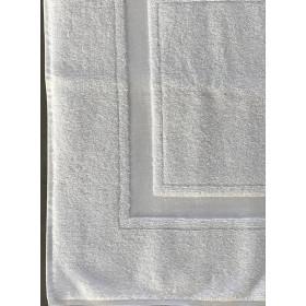 Tapis de bain blanc 100% coton ultra absorant - PROCLAS - 750 gr/m²