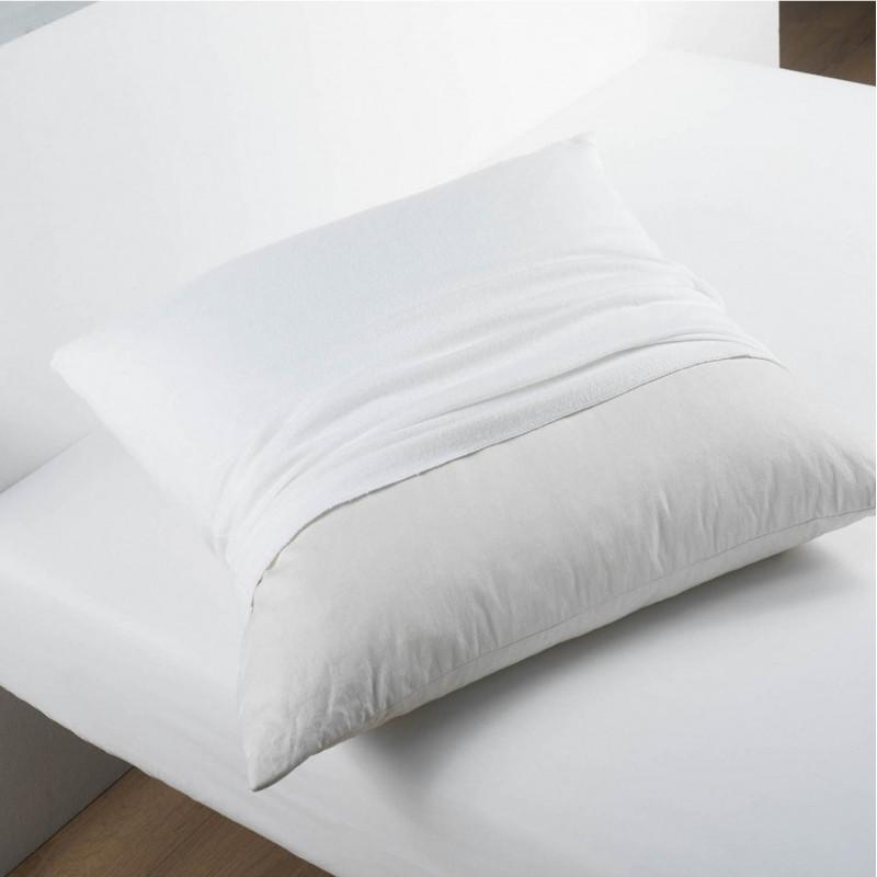 prot ge oreiller h tellerie absorbant doux molleton 100 coton. Black Bedroom Furniture Sets. Home Design Ideas