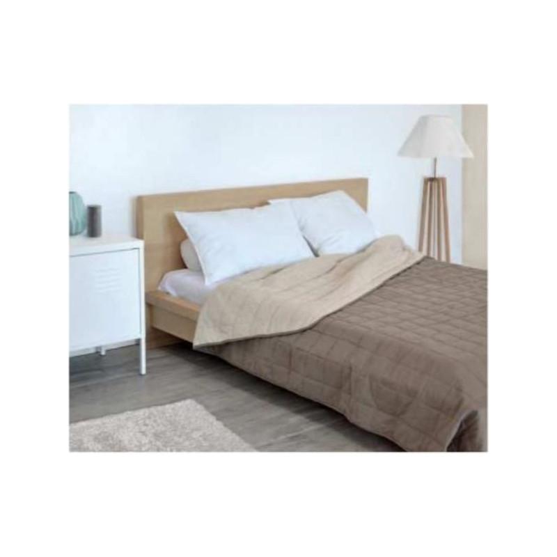 Couvre lit hôtellerie | Bi colore | Matelassé |Touché peau de pêche