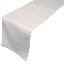 Chemin de table - 100% satin de polyester blanc - 220 gr/M2