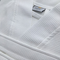 Peignoir Hôtel & Spa col kimono - NEW DELHI - gaufré - 250 gr/m2 - Zoom