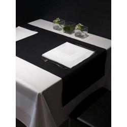 Lot de 12 serviettes de table restaurant | Coton damassé | 6 coloris