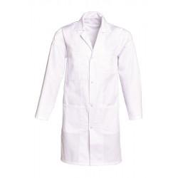 Blouse blanche médicale fermeture à pressions  | En polycoton ou coton