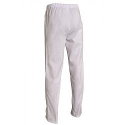 Pantalon de travail mixte en coton blanc - ANDRE - Comptoir Textile Hôtelier