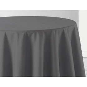 Nappage - TRADITION - Polycoton - Format rond - Gris anthracite