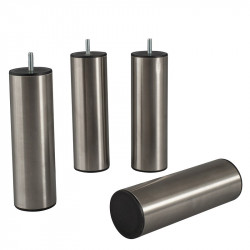 Pieds de sommier Cylindriques - Inox