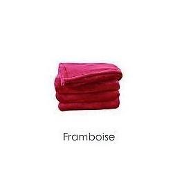 Plaid Polaire MICRODOUX Framboise