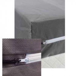Housse intégrale damassée - CÉSAR - polycoton