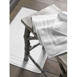 Tapis de bain hôtel & spa | Qualité supérieur | 100% coton blanc cadré