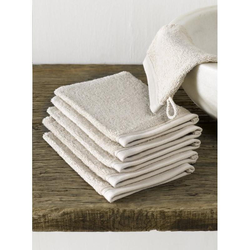 Lot de 12 gants de toilette hôtellerie | Haute qualité | 7 coloris