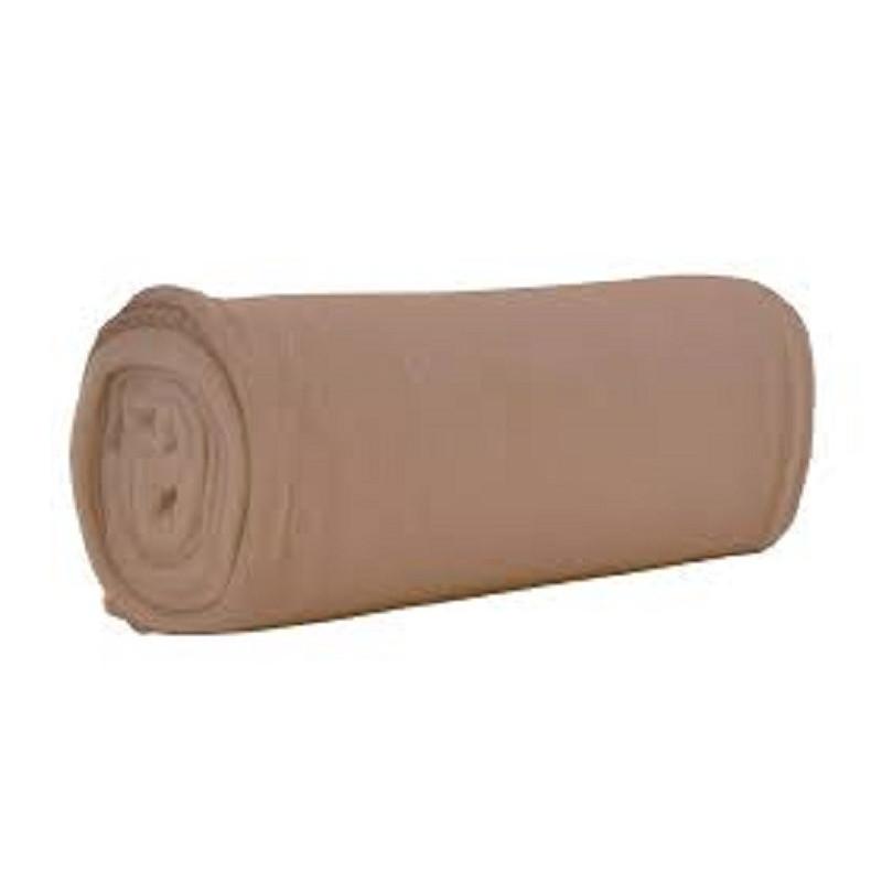 Plaid Taupe polyester microfibres non feu - UNO - 200 gr/m²