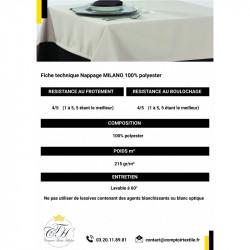 Nappage restaurant 100% polyester | Différents formats et coloris