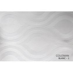 Échantillon tissu damassé polycoton - COLEMAN - 240 gr/m²