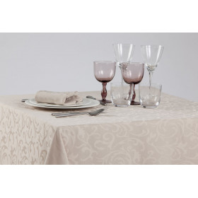 Nappage 100% polyester damassé floral - IPANEMA - 230 gr/m²