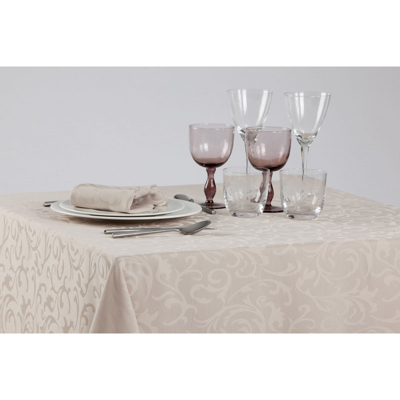 Nappage restaurant damassé floral | 100% polyester | 4 coloris
