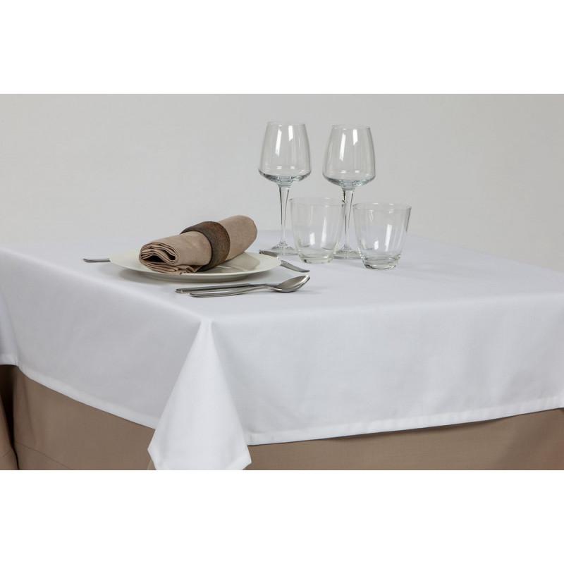 Nappage uni pour restaurant | Aspect naturel | Polycoton | 5 coloris