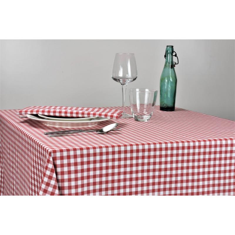 Nappage restaurant à petits carreaux | 50% polyester / 50% coton