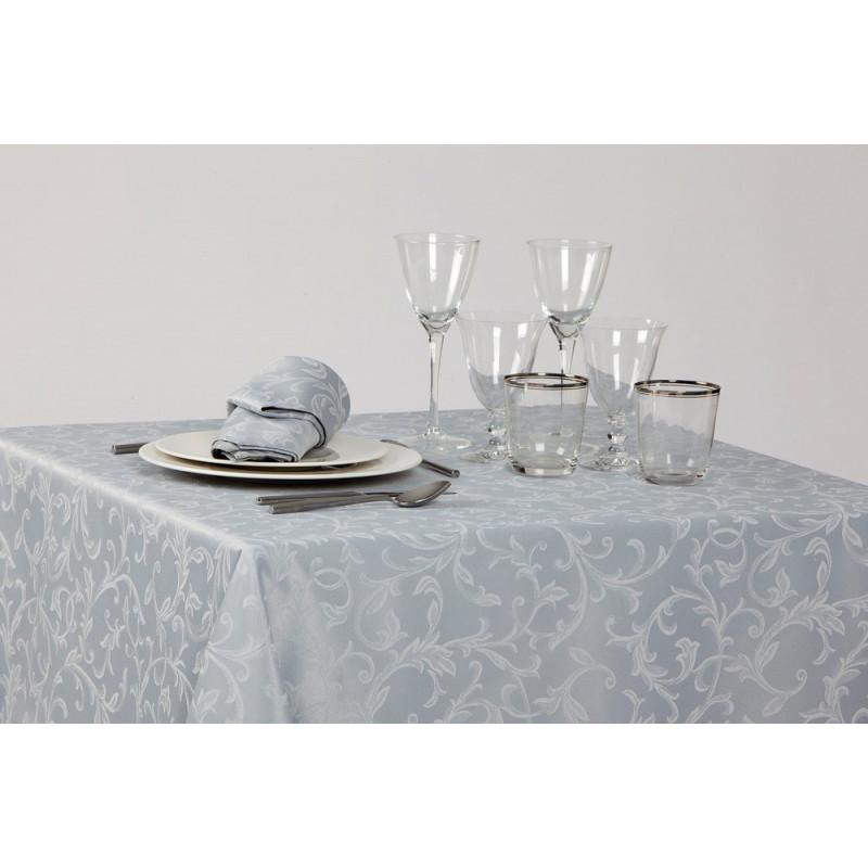Nappage restaurant polycoton damassé floral | 5 coloris | 230 gr/m²