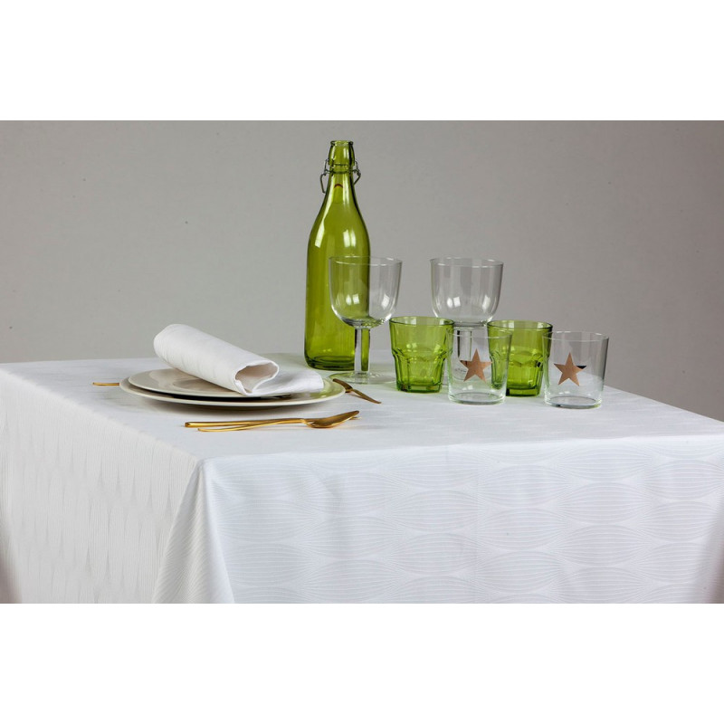 Nappage restaurant 100% polyester motifs ovales | 2 couleurs