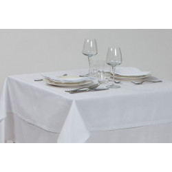Nappage polycoton faux uni blanc - CREPE 50/50 - 210 gr/m²