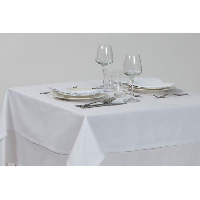 Nappage restaurant polycoton | Faux uni blanc | facile d'entretien