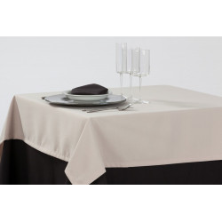 Nappage 100% polyester uni blanc - MILANO - 220 gr/m²