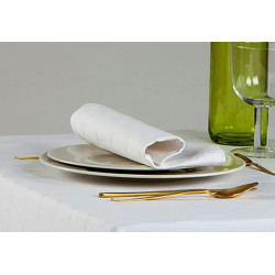 Lot de 10 serviettes de table 100% coton motifs ovales - LIMOGES - 280 gr/m²