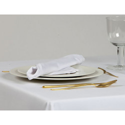 Lot de 10 serviettes de table 100% coton  - SANFOR - 240 gr/m²