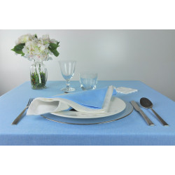 Lot de 10 serviettes de table uni 60% polyester / 40 % lin - JARA - 260 gr/m²