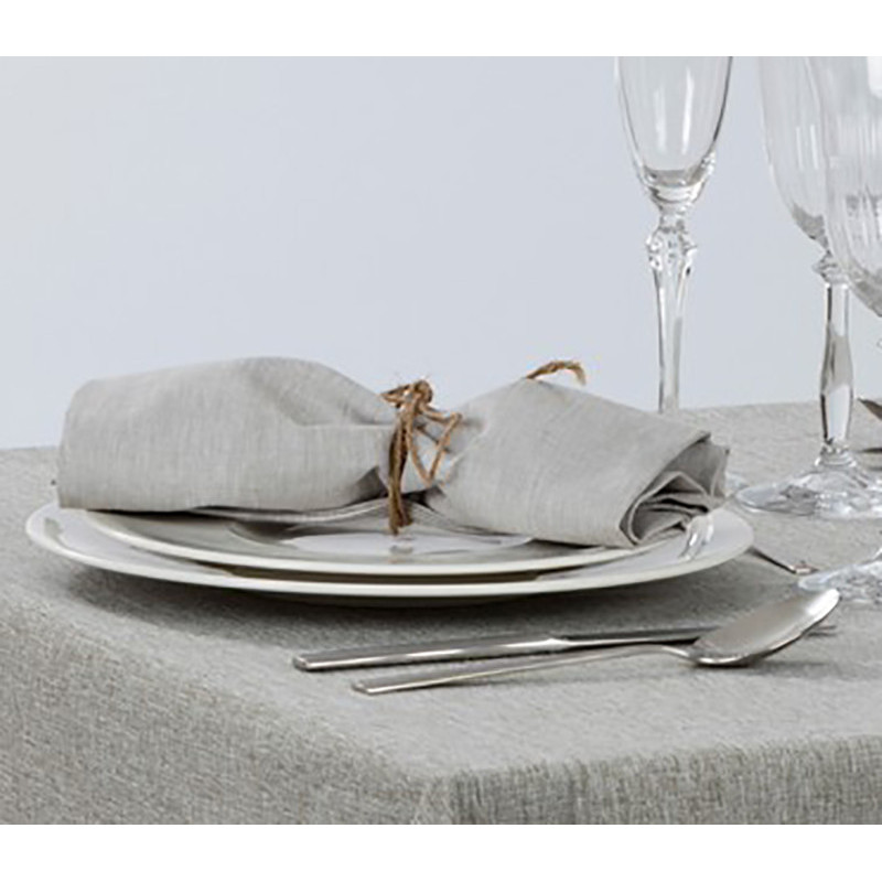 Lot de 10 serviettes de table restaurant | 100% polyester chiné