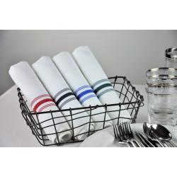 Lot de 10 Serviettes de table 100% polyester fil teint couleur - LINATE - 47 x 54 cm