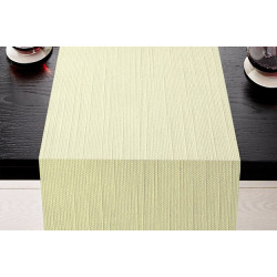 Lot de 5 chemins de table polycoton aspect naturel - CHAMBERY - 45 x 110 cm