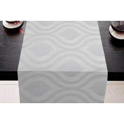 Lot de 5 chemins de table restaurant | Polycoton damassé | 2 coloris