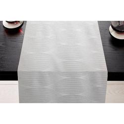 Chemins de table 100% coton motifs ovales - LIMOGES - 45 x 110 cm