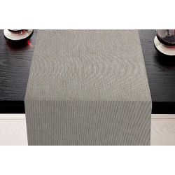 Lot de 5 chemins de table uni polyester & lin - GALIENI - 45 x 110 cm