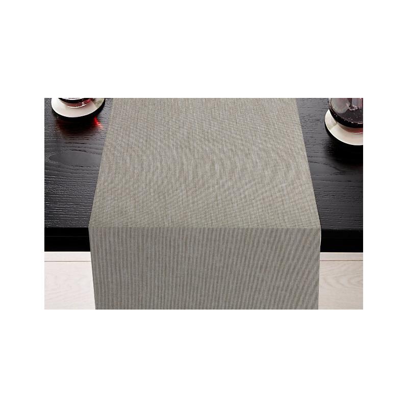 Lot de 5 chemins de table restaurant | Polyester & Lin uni | 7 coloris